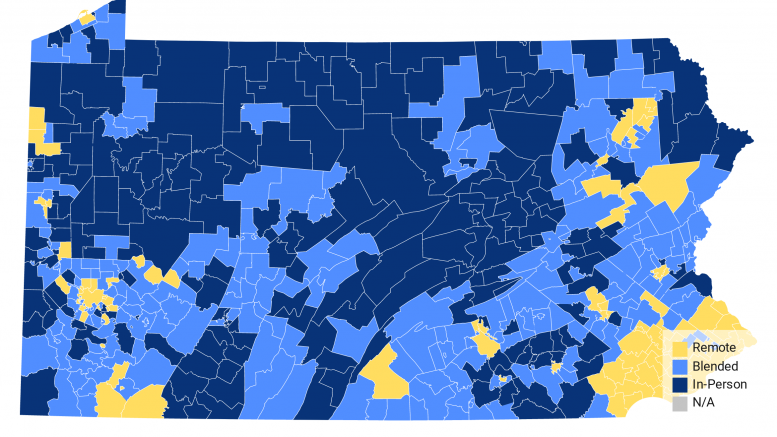 MAP: School is back in for Pennsylvania students. Find your district's reopening plan here.